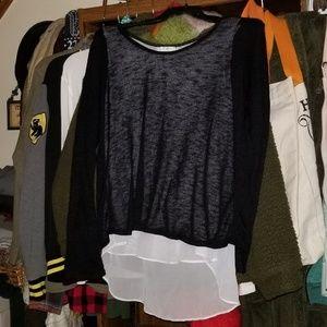 Tops - Black and White Dress Shirt